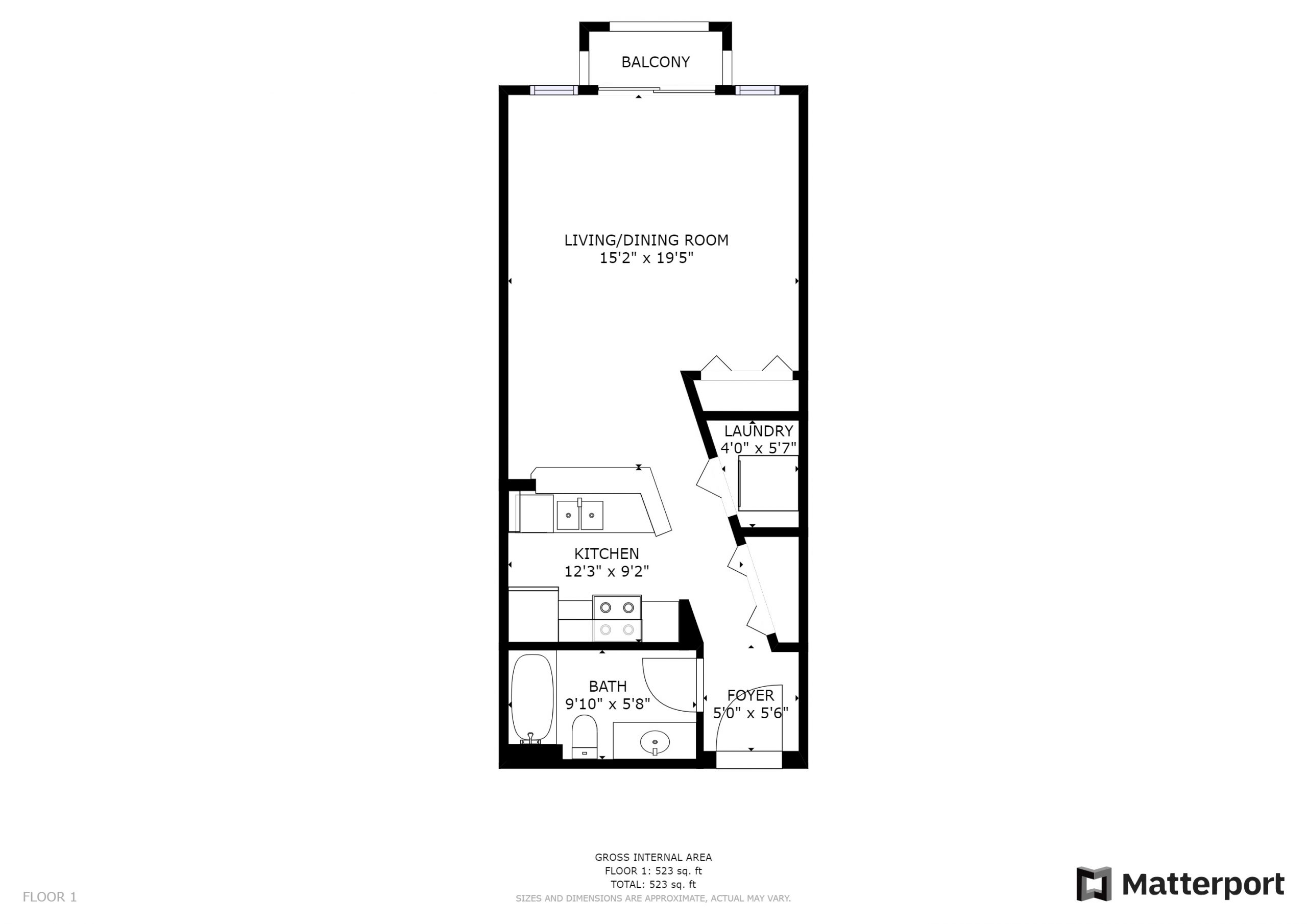 Floor Plan(jpg) - 412 11th Ave Unit 310, Seattle